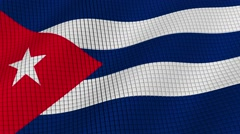Flag of Cuba is developing waves. Looped. Full HD 1080. Stock Footage