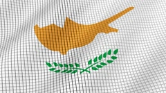 The flag of Cyprus is developing waves. Looped. Full HD 1080. Stock Footage