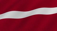 Flag of Latvia is developing waves. Looped. Full HD 1080. Stock Footage