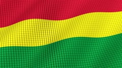 The flag of Bolivia is developing waves. Looped. Full HD 1080. Stock Footage