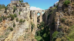 "The famous ""Puente Nuevo"" bridge of Ronda, Spain. Stock Footage"