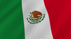 The flag of Mexico is developing waves. Looped. Full HD 1080. Stock Footage