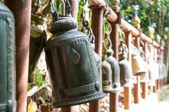 Thai bell on Wat Pra Tad Doi Tung - stock photo