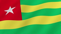 The Flag Of Togo is developing waves. Looped. Full HD 1080. Stock Footage