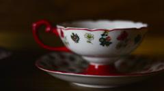 Delicate Tea Cup Stock Footage
