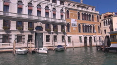 Stock Video Footage of POV Point of view boat pass Grand Canal Venice popular sightseeing romantic city