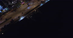 Miami Beach at night Aerial video footage Stock Footage