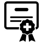 Stock Illustration of Medical Certification Icon