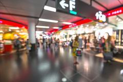 Airport blur Stock Photos