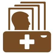 Patient Catalog Icon - stock illustration