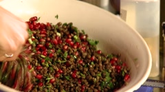 Salad with Lentils Stock Footage