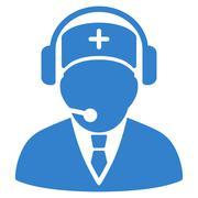 Emergency Operator Icon Stock Illustration