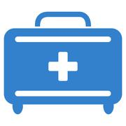 First Aid Toolkit Icon Stock Illustration