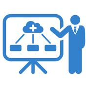 Health Care Report Icon - stock illustration