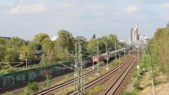 S-bahn train / train traffic in berlin, germany Stock Footage