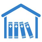 Medical Library Icon - stock illustration