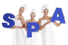 Spa women - stock photo