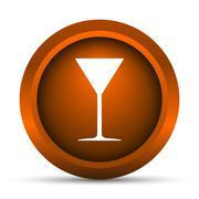 Martini glass icon. Internet button on white background.. - stock illustration