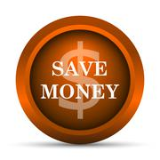 Stock Illustration of Save money icon. Internet button on white background..