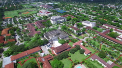 Aerial video Barry University Miami 3 Stock Footage