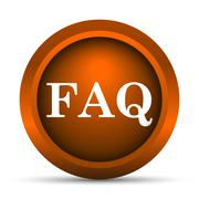Stock Illustration of FAQ icon. Internet button on white background..