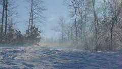 Fog over snow on  Kraljevica park hill 4K 2160p UHD footage - Hills  Stock Footage