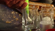 Stock Video Footage of Chef preparing dessert in a glass