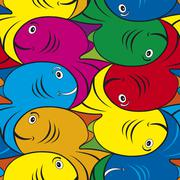 Tessellated Fish Pattern Piirros