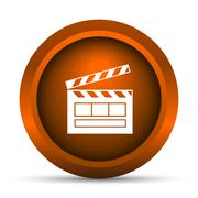 Stock Illustration of Movie icon. Internet button on white background..