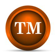 Stock Illustration of Trade mark icon. Internet button on white background..