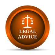 Stock Illustration of Legal advice icon. Internet button on white background..