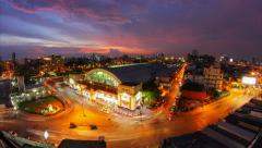 Hua Lamphong in Bangkok in the evening,Thailand, time lapse Stock Footage