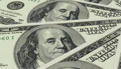 USD 100 Bills Rolling Background Loop - stock footage