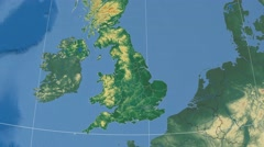 Kent - county of England extruded. Bumps shaded Stock Footage