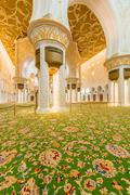 Stock Photo of Abu Dabi - JANUARY 9, 2015: Sheikh Zayed mosque on January 9 in