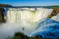 Devil's Throat at Iguazu Falls, Puerto Iguazu, Argentina Stock Photos