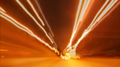 Urban Traffic Light Trails - Light trails from transport - time lapse Stock Footage