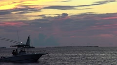 Boaters enjoying the Key West sunset - stock footage
