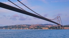 Istanbul asian side bosphorus  bridge sea view Stock Footage