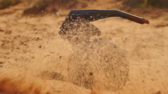 Grenade in sand live Stock Footage