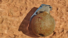 Grenade outside sun Stock Footage