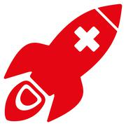 Medical Rocket Icon - stock illustration