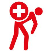 Medication Courier Icon - stock illustration