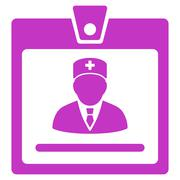 Doctor Badge Icon - stock illustration