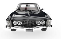 Classic American Car Front View - stock illustration