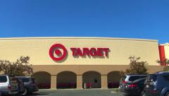 Target retail store, drive up Stock Footage