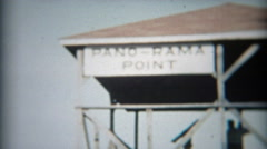 1957: Pano-Rama Point telescope viewing nature park. - stock footage
