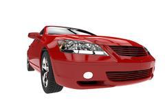 Red Car Headlights Stock Illustration