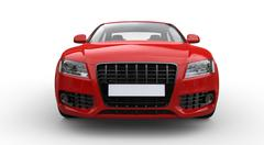 Stock Illustration of Red Business Car Front