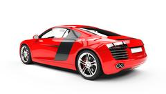Red Supercar - Back Side View Stock Illustration